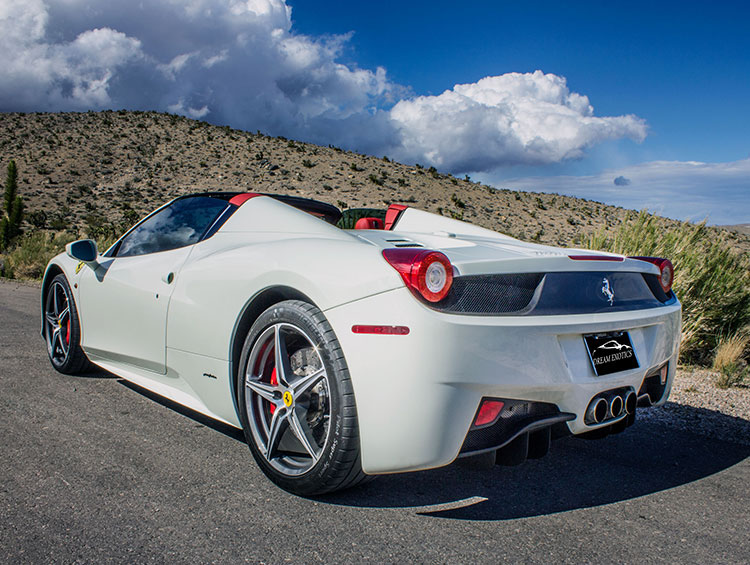 Ferrari 485 Italia Convertible White