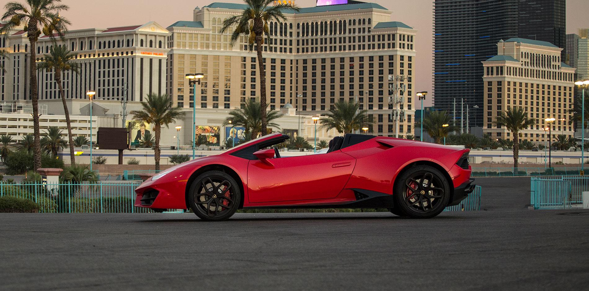 Red Lamborghini Convertible