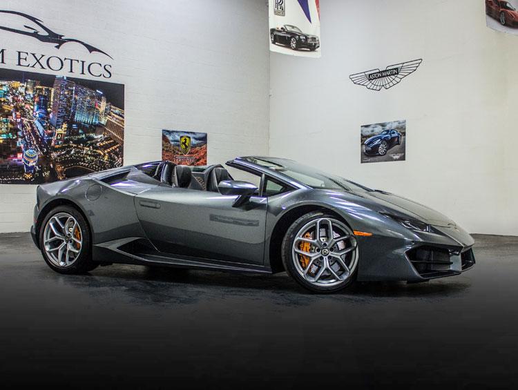 Grey Lamborghini Huracan Spyder