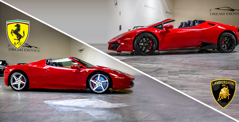 Ferrari Vs Lamborghini Which One Do You Choose Las Vegas Dream Exotics