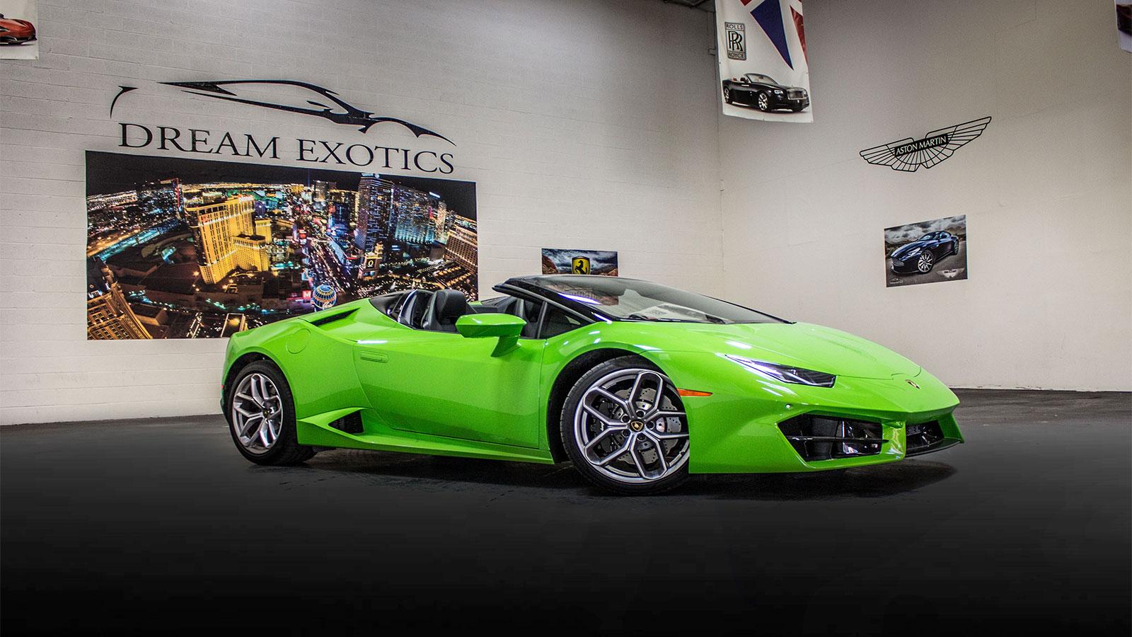 Green Lambo Rental Las Vegas
