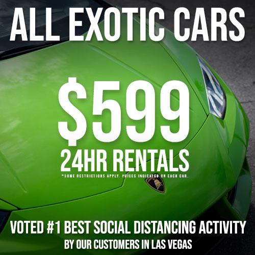 May Special - $599 24 Hr Rentals