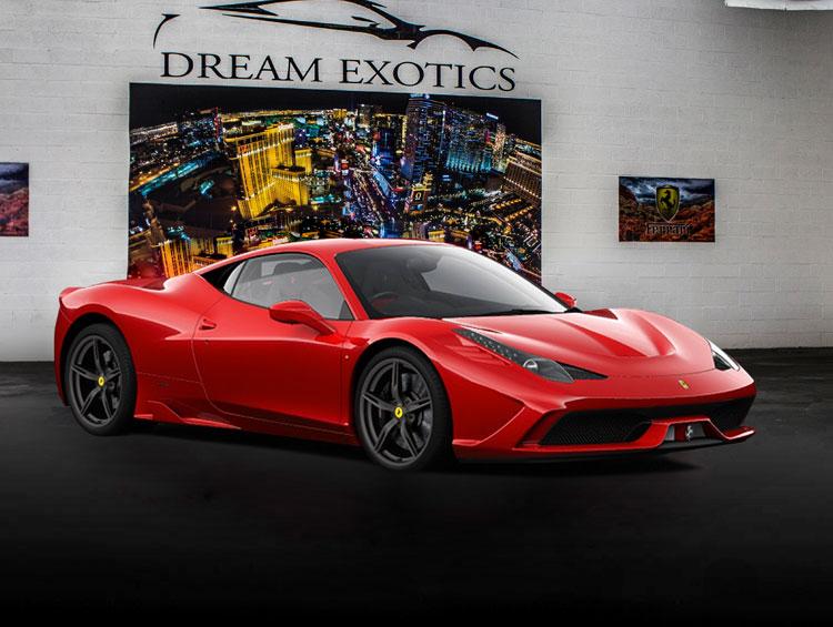 ferrari 488 spider exotic car rental in las vegas | dream exotics