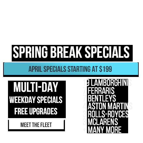 Spring Break Sale