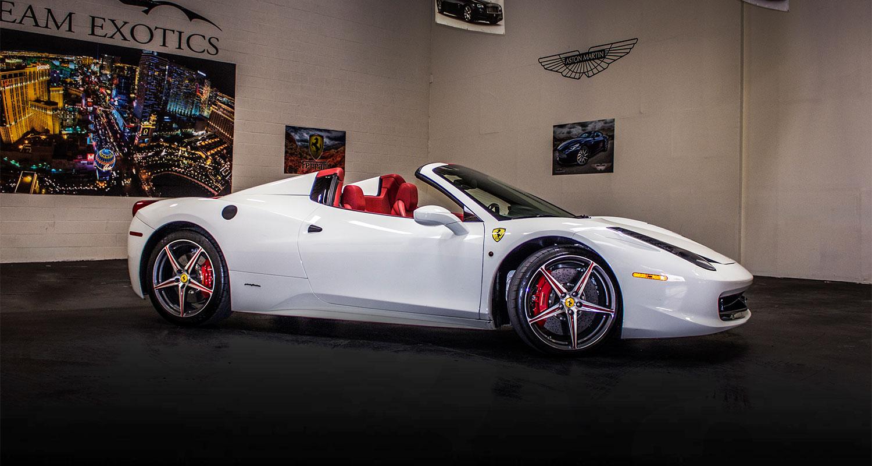 White Ferrari 458 Italia Slide